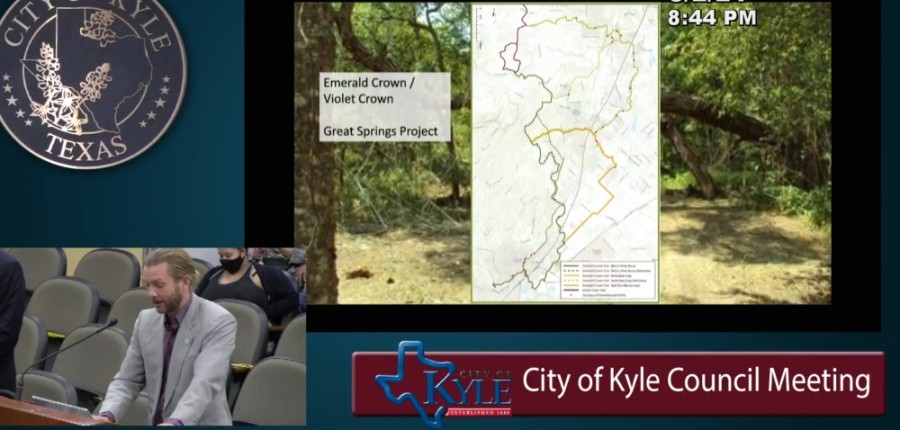 Kyle city staff answered questions March 2 about the city's ongoing design and construction of its citywide trail system. (Screenshot courtesy city of Kyle)