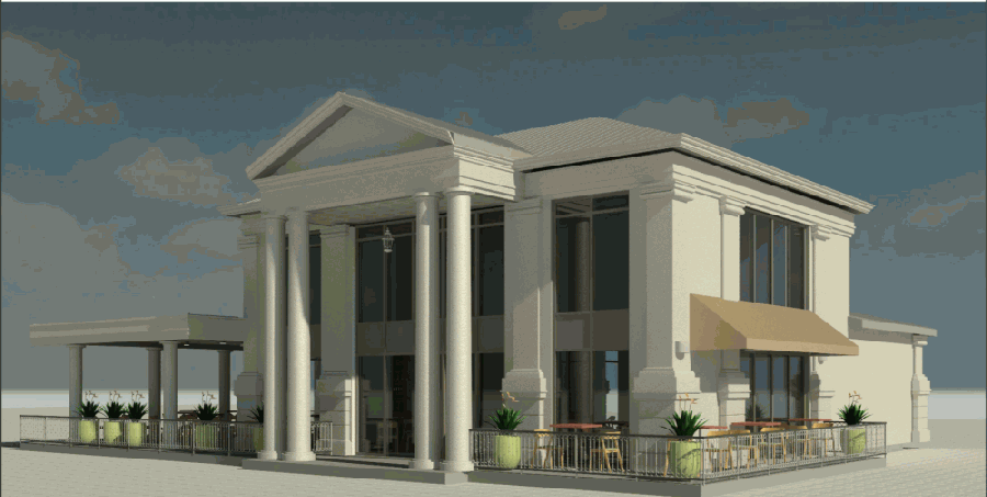 Katy Crossing Icehouse will have a bar, a private event space and an outdoor patio. (Courtesy Katy Crossing Icehouse)