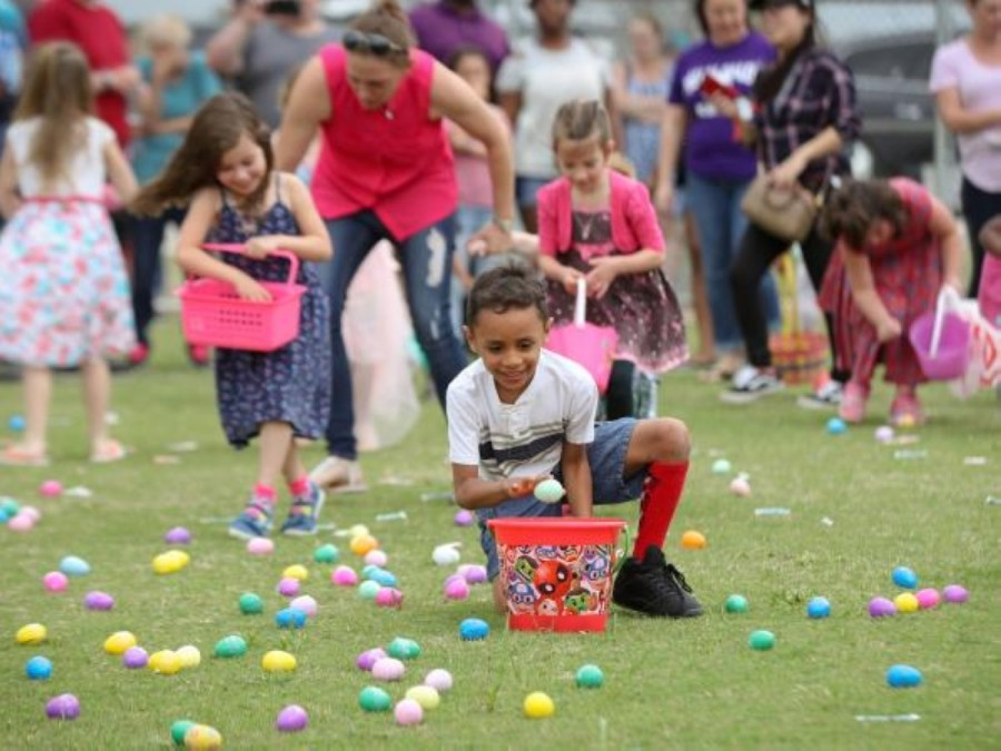 The city of Highland Village is foregoing its in-person Easter egg hunt this year, opting instead for a drive-thru event. (Courtesy city of Leander)