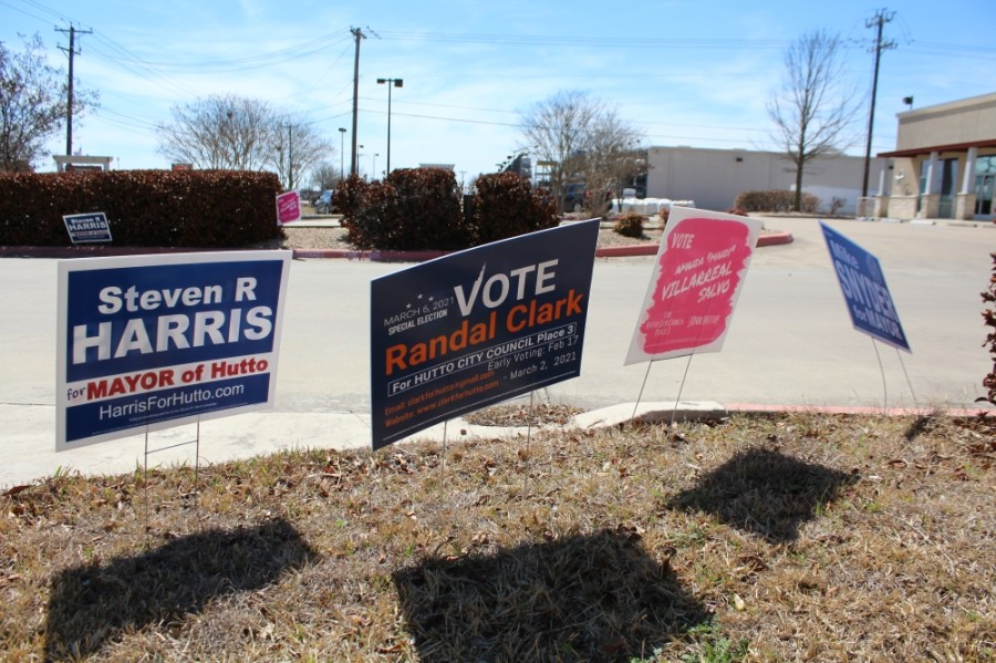 Hutto residents vote for mayoral and City Council Place 3 positions in the March 6 special election. (Megan Cardona/Community Impact Newspaper)