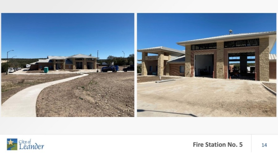 photos of fire station under construction