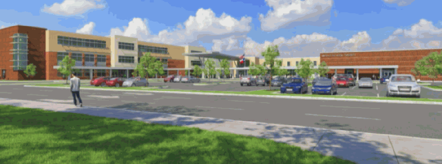 Middle School No. 20 is slated to open in August 2023. (Rendering courtesy IBI Group)
