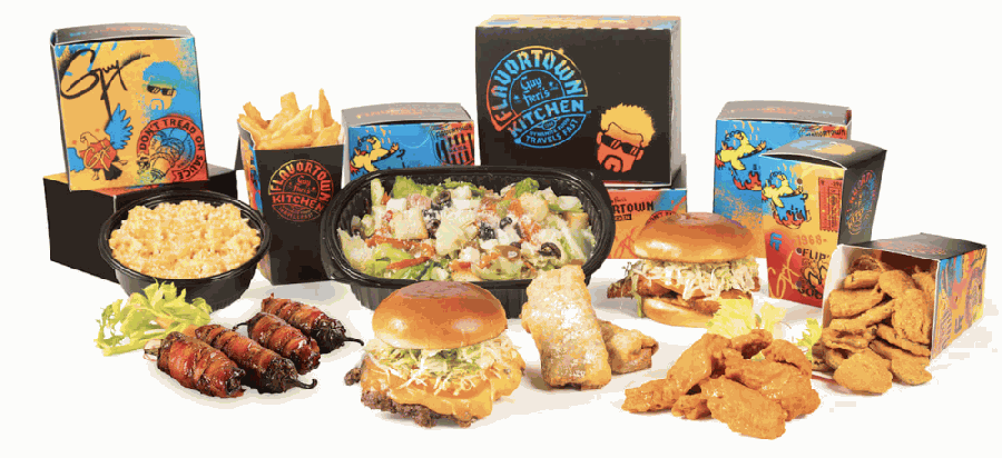 Guy Fieri's Flavortown is operating near Stonebriar Centre as a to-go-only ghost kitchen. (Courtesy Virtual Dining Concepts)
