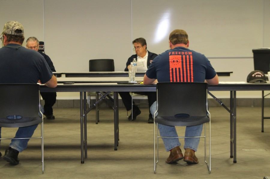 The Magnolia Volunteer Fire Department's board did not discuss personnel matters publicly at the March 8 meeting. (Eva Vigh/Community Impact Newspaper)