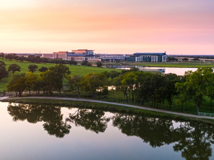 The Charles Schwab headquarters in Westlake is one of several developments in the AllianceTexas and north Fort Worth area expected to come online in 2021. (Courtesy Hillwood)