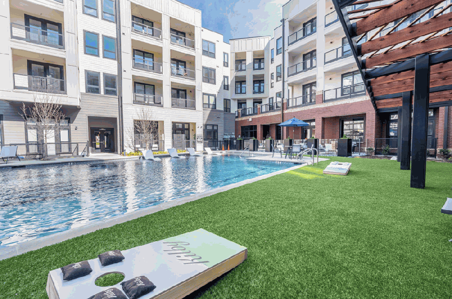 Kilby, a luxury apartment complex on Frisco Square, is now complete and ready for move-ins. (Courtesy Clark Cabus Photography)