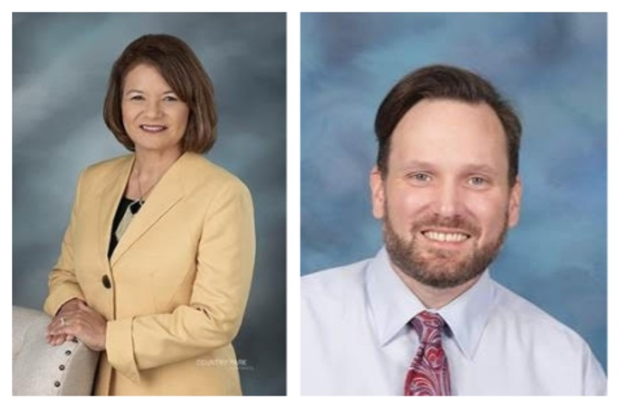 Doreen Martinez, principal of Memorial Parkway Elementary School, and William Rhodes, principal of Bryant Elementary School, have been named Texas Distinguished Principal finalists by the Texas Elementary Principals and Supervisors Association. (Courtesy Katy ISD)