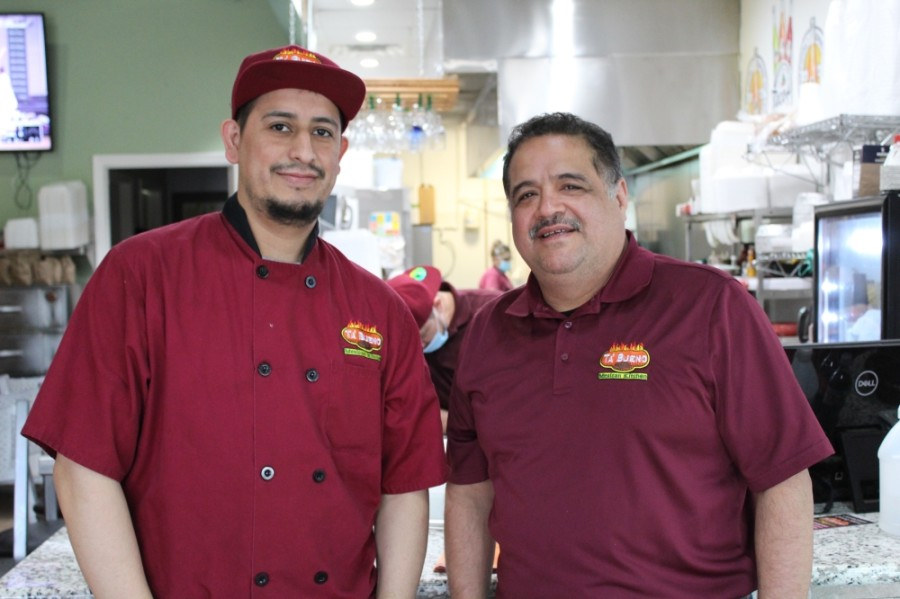 Sergio Pineda (right) opened Ta Bueno on Spring Cypress Road in Cypress in August 2019 with his partner Salvador Reyes. (Shawn Arrajj/Community Impact Newspaper)