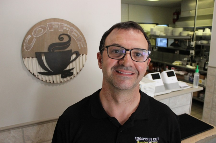 Biko Begaj said he started Eggspress Cafe to serve as a regular destination for the local neighborhood. (Daniel Houston/Community Impact Newspaper)