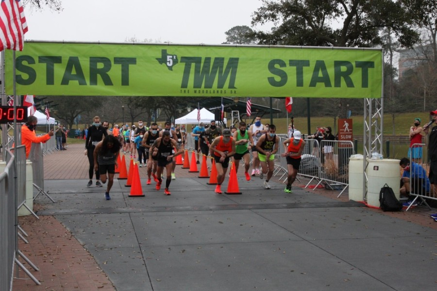 The Woodlands Marathon runners were assigned different start times based on group numbers. The 5K race and 2K fun runs took place Feb. 27. (Photos courtesy FinisherPix)