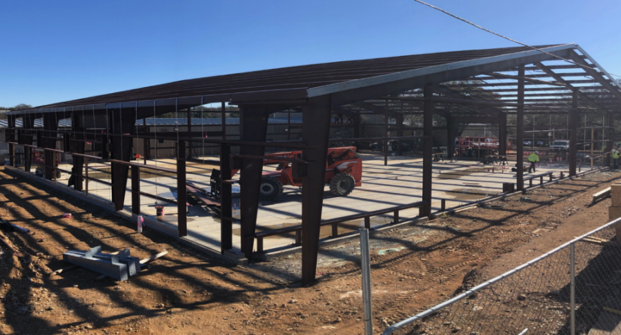 Eanes ISD's robotics facility is under construction. (Courtesy Eanes ISD)