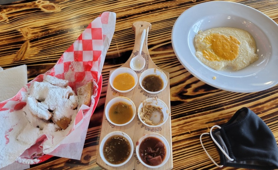 Among the popular items at The Lost Cajun are freshly made beignets. (Lara Estephan/Community Impact Newspaper)
