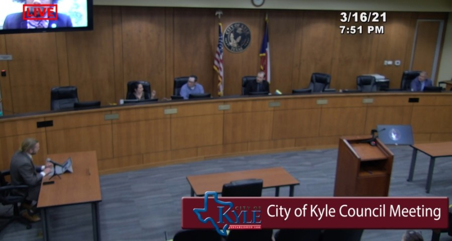 Kyle City Council decided March 16 that new signage for Veterans Drive should be installed by Memorial Day. (Screenshot courtesy city of Kyle)