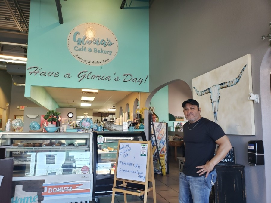 Manny Romero took over ownership of Gloria's Cafe and Bakery in 2018. (Ali Linan/Community Impact Newspaper)