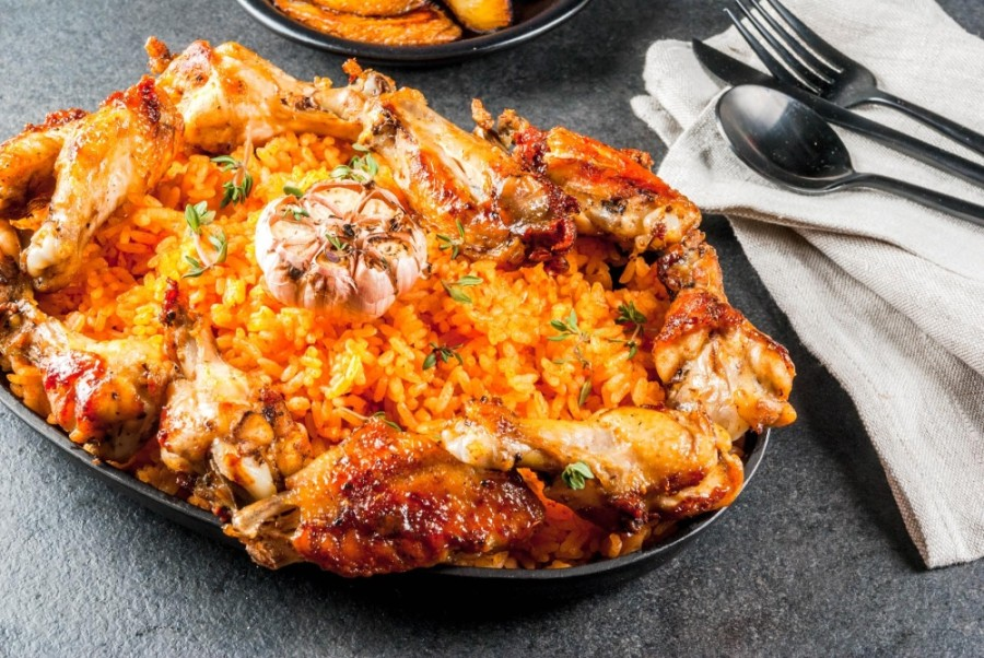 Gidi's Bar & Grill will serve typical West African dishes, such as jollof rice. (Courtesy Adobe Stock)