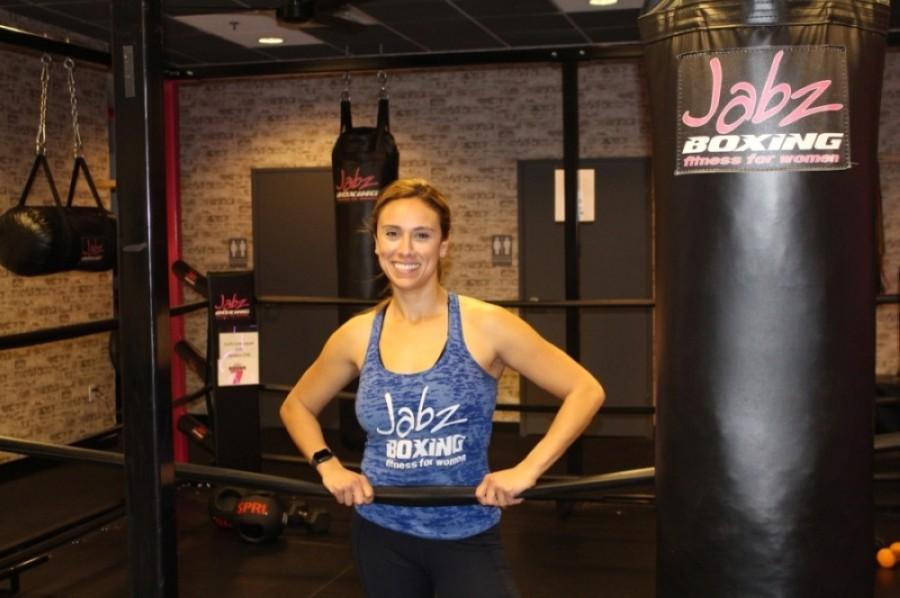 Teresa Robinson has taken over ownership of Jabz Boxing Fitness for Women in Gilbert with her husband, Derek. (Tom Blodgett/Community Impact Newspaper)