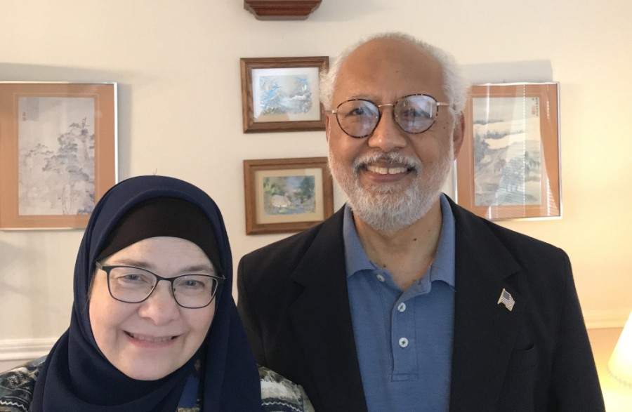 Clear Lake residents Ruth and Mohammed Nasrullah have launched a nonprofit to honor COVID-19 victims. (Courtesy Ruth Nasrullah)