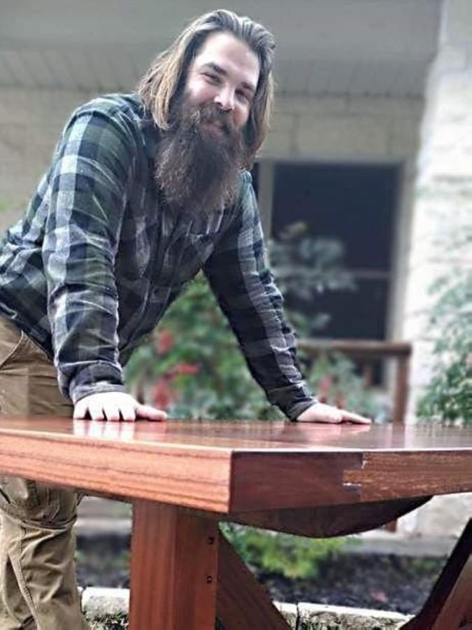 Mark Cramer opened Heirloom Custom Woodworking in 2018. (Courtesy Heirloom Custom Woodworking)