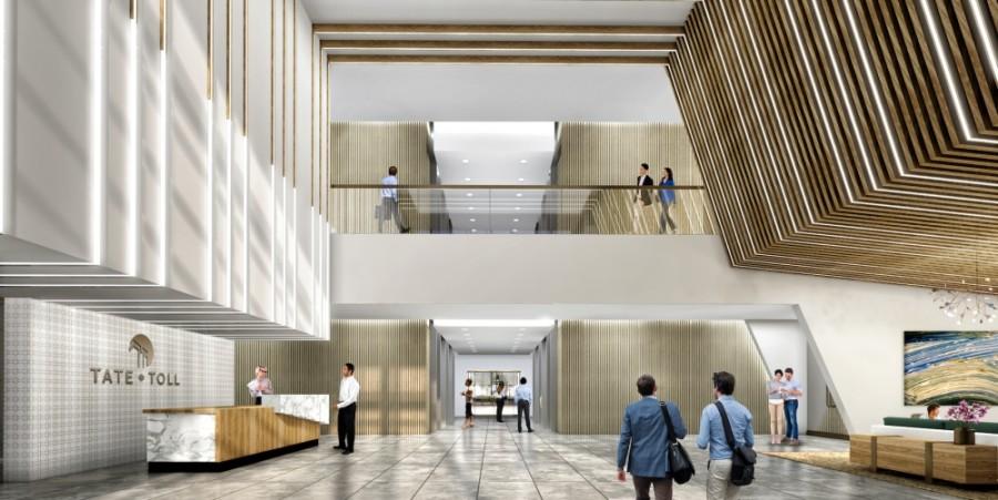 office lobby rendering