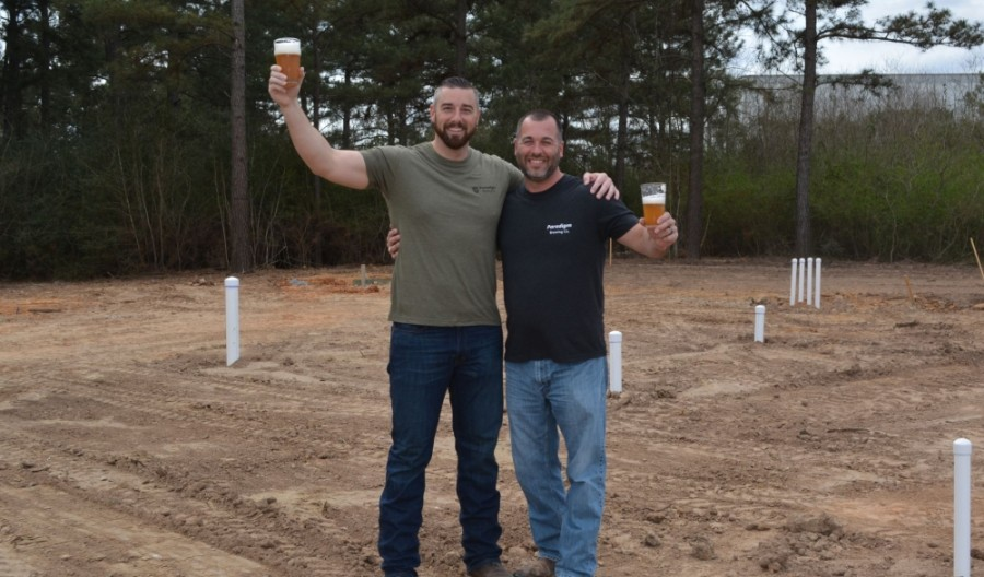 The brewery will be named Paradigm Brewing Co., co-owned by Chris Juergen (right) and Josh Schwaiger (left). (Courtesy Winkler Public Relations)