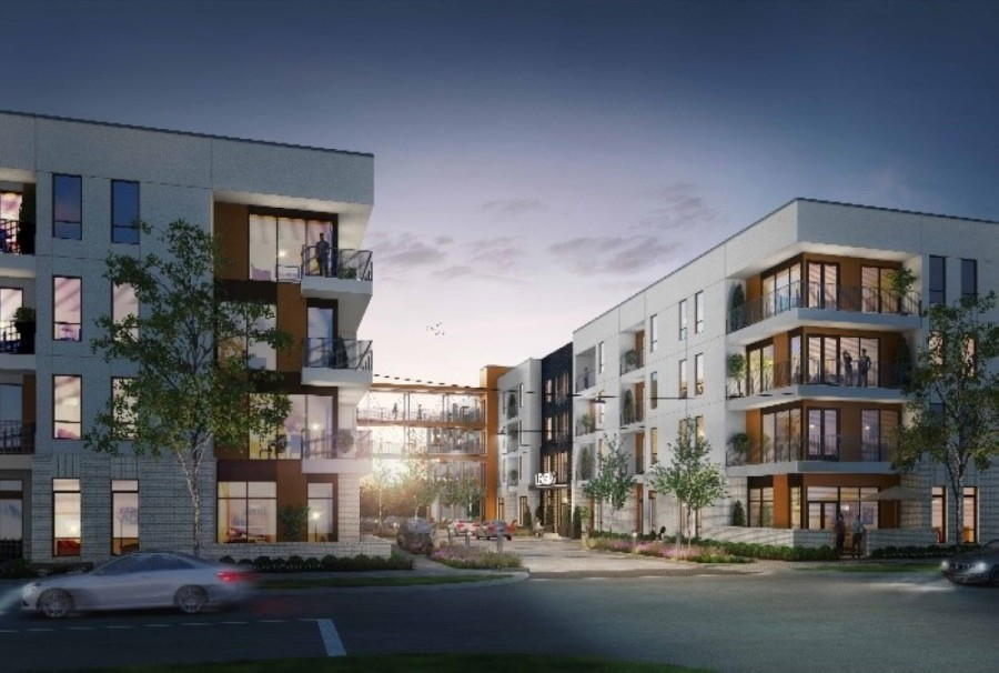 Apartment development.