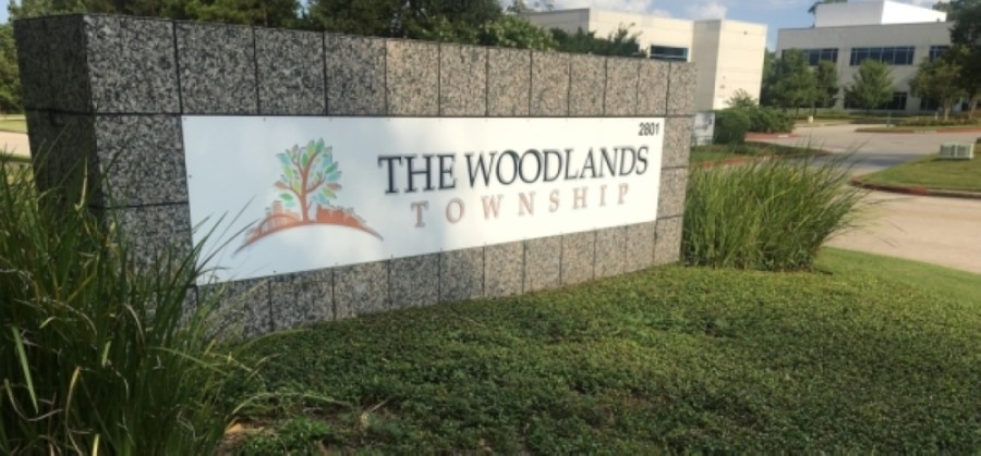 The Woodlands Township board of directors held an in-person meeting March 24. (Vanessa Holt/Community Impact Newspaper)