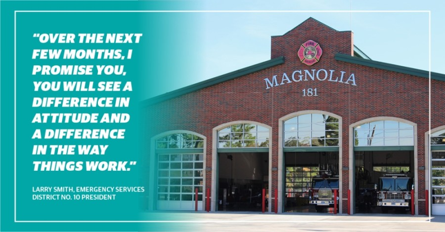 Montgomery County Emergency Services No. 10 contracts with the Magnolia Volunteer Fire Department to provide fire services. (Kara McIntyre/Community Impact Newspaper)