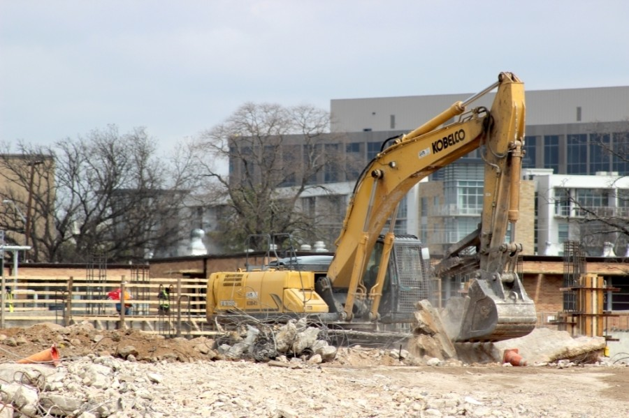 Work continues on the Austin State Hospital project in North Central Austin. The first $180.5 million was provided in 2019, and the project is awaiting another round of funding from the Texas Legislature this session. (Jack Flagler/Community Impact Newspaper)