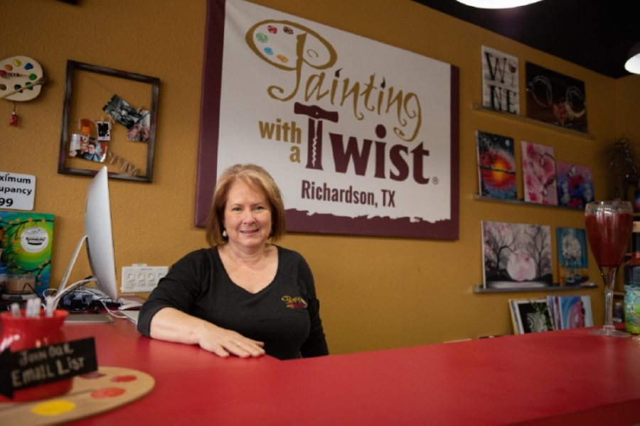 Kim Garrison opened Painting With a Twist in Richardson in December 2016. (Liesbeth Powers/Community Impact Newspaper)