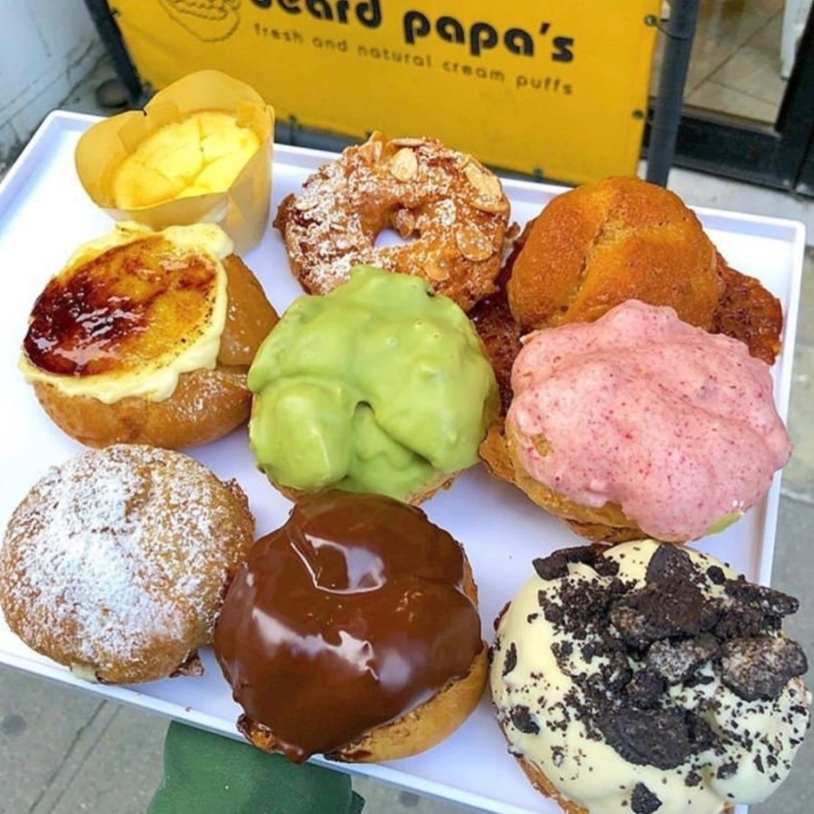 Beard Papa's will allow patrons to build their own cream puffs by choosing from eight types of cream puff shells and eight cream filling flavors. (Courtesy Beard Papa's)