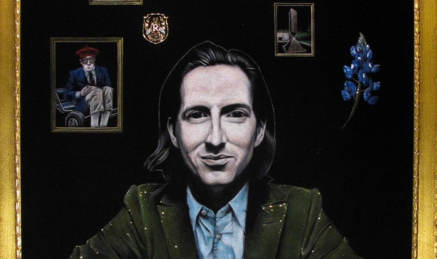 """The new Voodoo Doughnut includes """"a special velvet painting created just for the neighborhood"""" that depicts film director Wes Anderson, a Houston native.. (Courtesy Voodoo Doughnut)"""