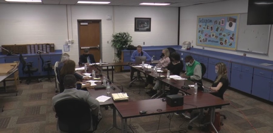 The Franklin Special School District met for a special called meeting March 29. (Screenshot via YouTube)
