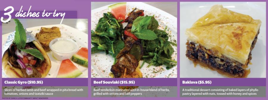 The restaurant serves authentic Greek cuisine. (Danica Lloyd/Community Impact Newspaper)