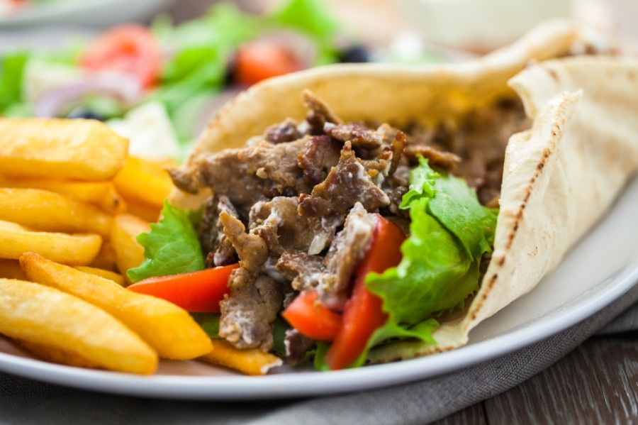 The Mediterranean fast-food concept will offer signature shawarma rolls and rice bowls in varying degrees of spice levels. (Courtesy Adobe Stock)