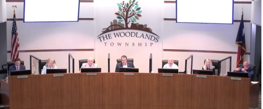 The Woodlands Township board of trustees discussed issues including a financial report and possible future incorporation planning at a March 31 meeting. (Screenshot via The Woodlands Township)