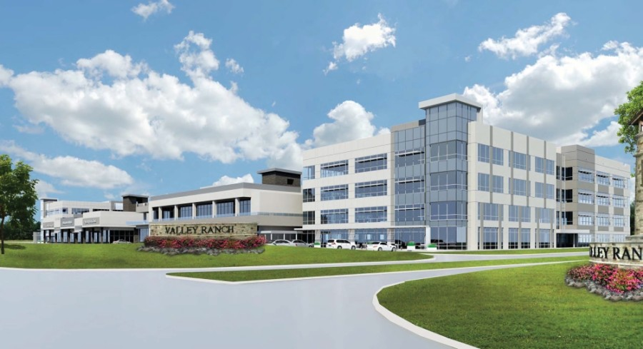 The Signorelli Co. broke ground on its roughly 200-acre Valley Ranch Medical District in September. (Rendering courtesy the Signorelli Co.)