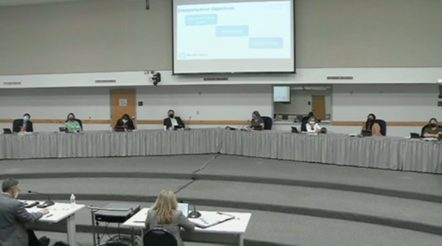 Round Rock ISD Board of Trustees discussed the 2021-22 budget during the April 1 meeting. (Screenshot RRISD Board Meeting)