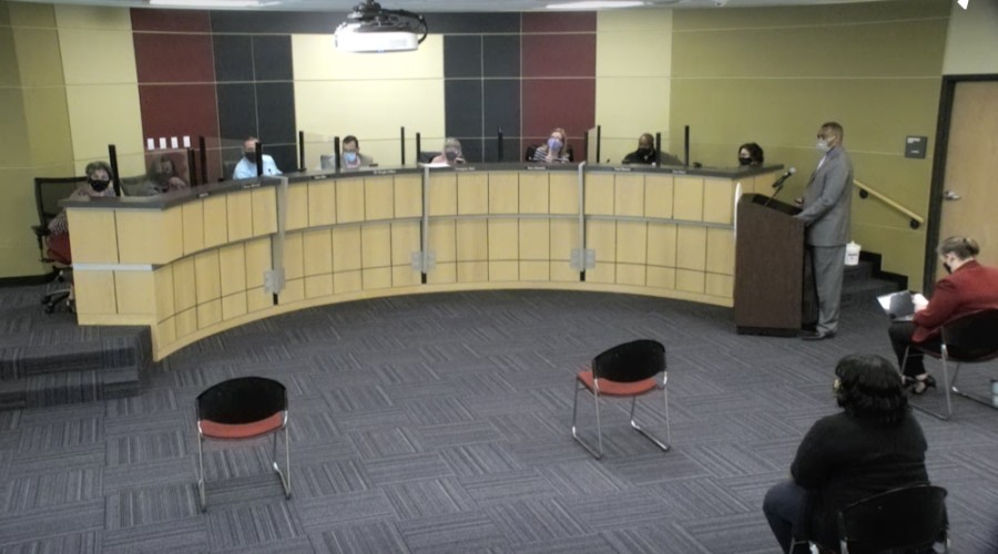 The April 1 conversation follows a March 4 board meeting during which several parents spoke out about the lack of Black teachers at Riojas Elementary School, as well as concerns regarding greater diversity and equity initiatives at Pflugerville ISD. (Screenshot courtesy Pflugerville ISD)
