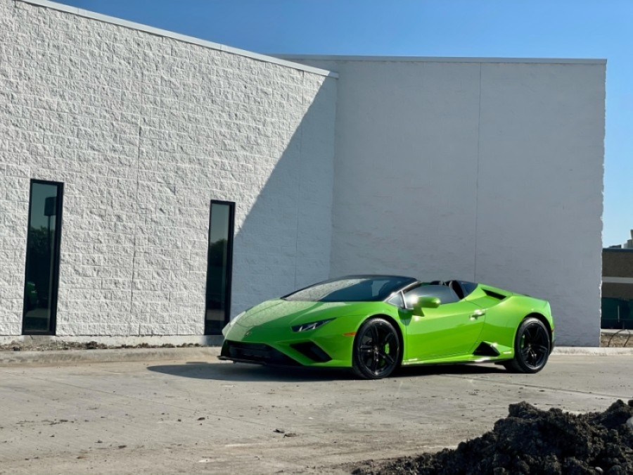 Construction of Lamborghini Dallas' new showroom is slated to be finished this summer. (Courtesy Lamborghini Dallas)