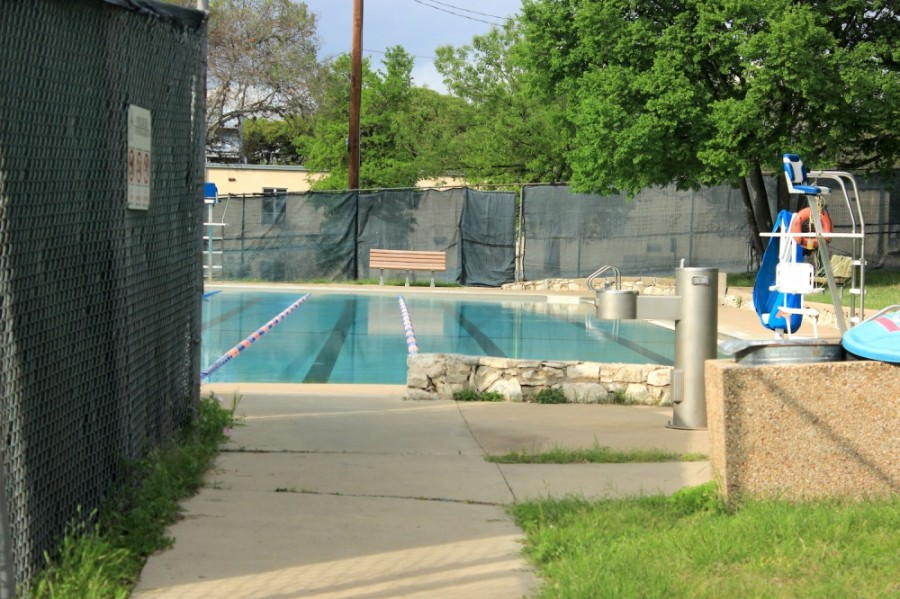 Big Stacy Neighborhood Pool will reopen April 6 after closing briefly for repairs following the winter storm in February. (Jack Flagler/Community Impact Newspaper)