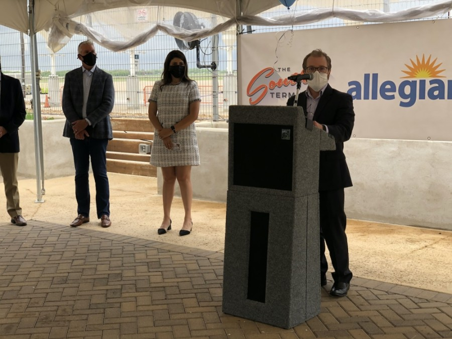 Allegiant airlines and Austin-Bergstrom International Airport announced that the company will expand its Austin operations in late 2021. (Courtesy Austin-Bergstrom International Airport)