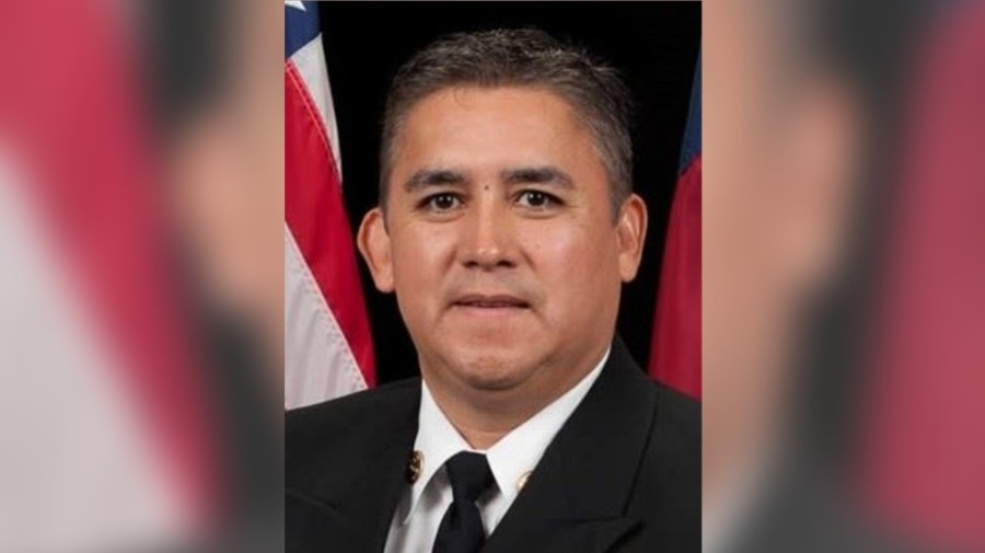 City Manager Odis Jones selected and City Council approved Mario Partida to be the city's next fire chief April 5. (Courtesy city of Missouri City)