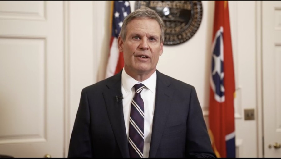 "Gov. Bill Lee announced April 6 he is in opposition to mandated ""vaccine passports."" (Screenshot via Facebook)"