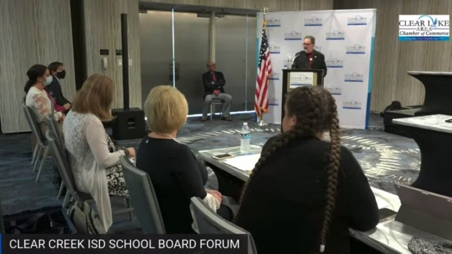 Clear Creek ISD candidates spoke during a forum April 6 before the May election. (Courtesy i45now)