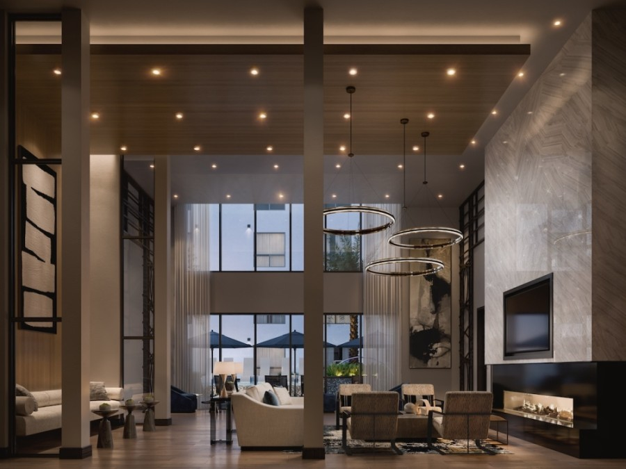 The luxury high-rise Ellison Heights is now open at 510 W. 20th St., Houston. (Courtesy Binyan Studios)