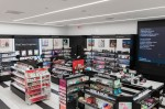 High-angle photo of the corner of a Sephora store
