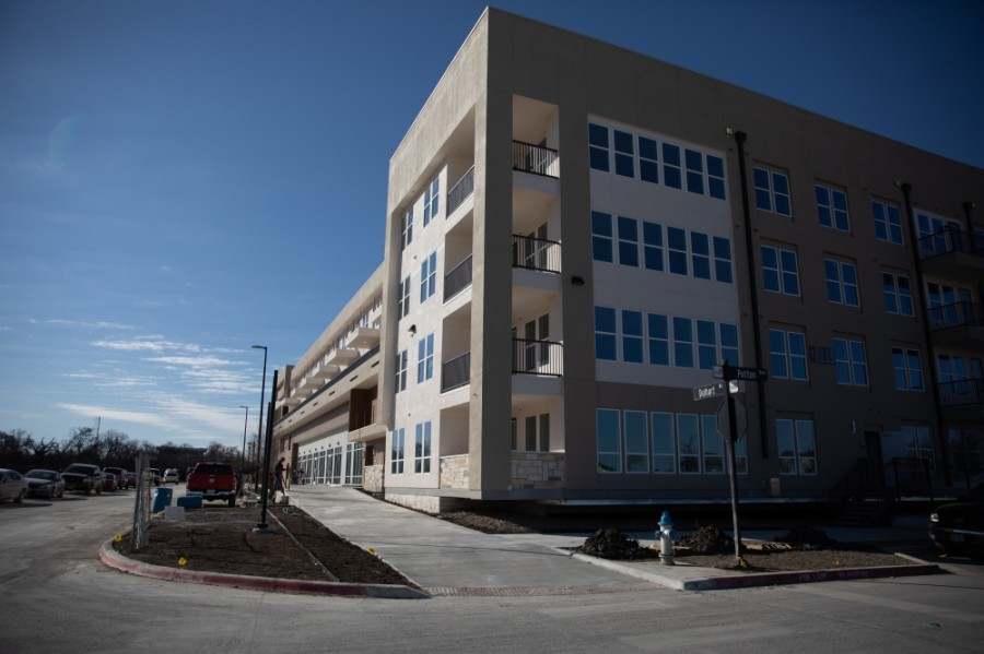 The eastern portion of Heritage Creekside has been largely developed with roughly 60% of the entire property built out in 2020. The mixed-use development expects to be fully built out in 2026 or soon after. (Liesbeth Powers/Community Impact Newspaper)