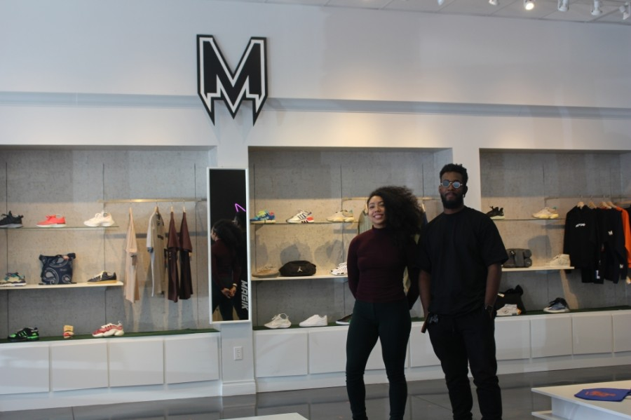 Owners Shae (left) and King (right) Magik moved their shop to the Hill Country Galleria in Novemeber 2020. (Amy Rae Dadamo/Community Impact Newspaper)