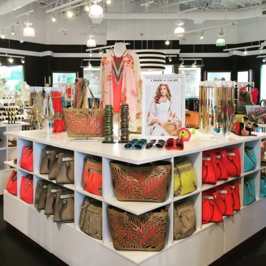 The store is known for its color-coordinated in-store setup of clothes, shoes, jewelry and other accessories. (Courtesy Charming Charlie)