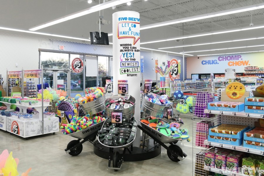 Five Below is known for its tech, fashion and candy products. (Courtesy of Five Below)